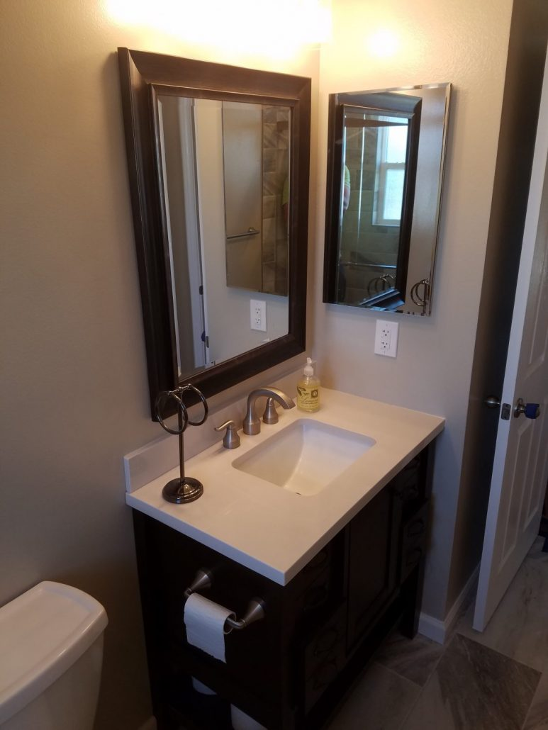 oxnard hallway bathroom remodel - genhawk construction