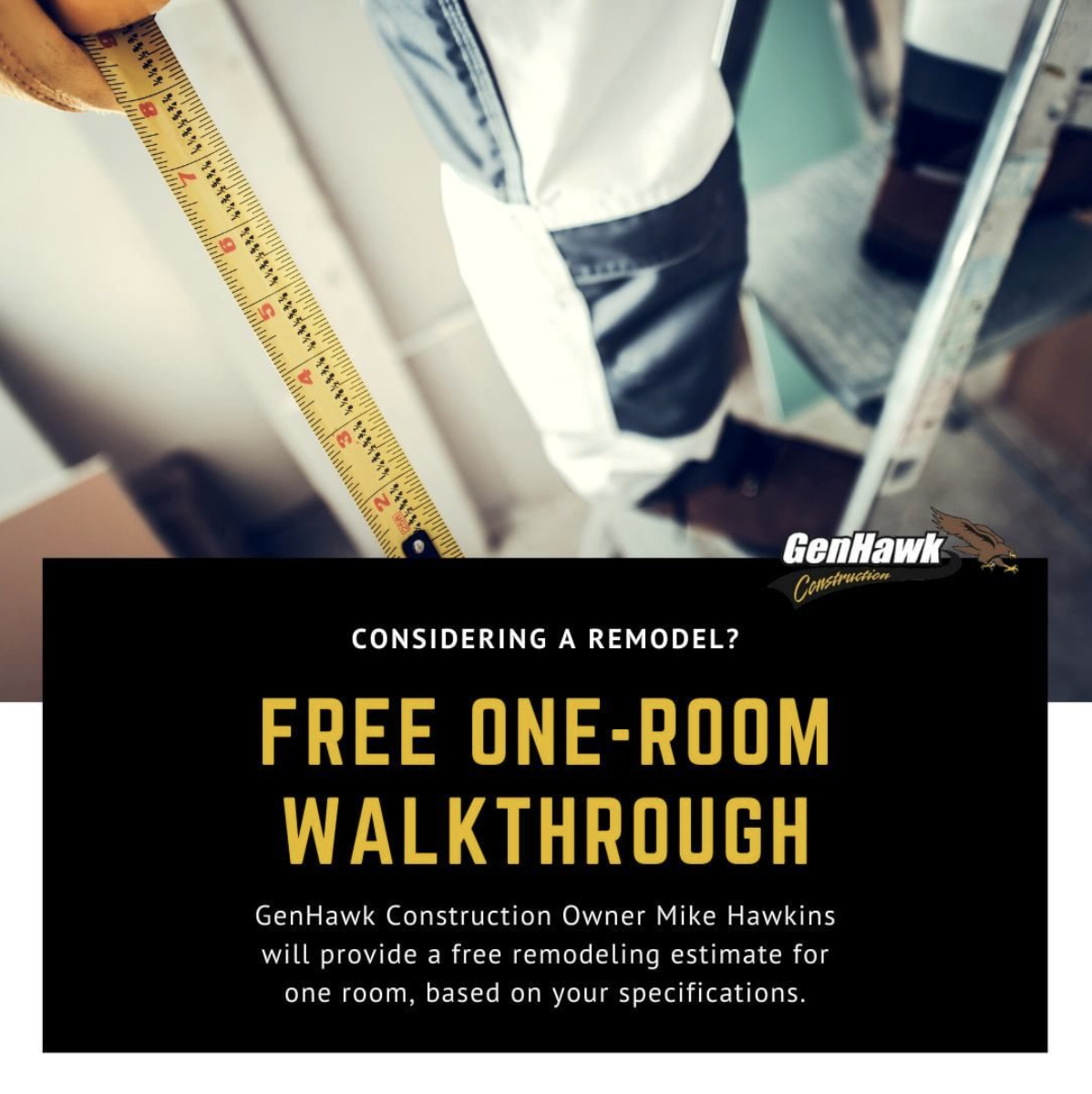 Free One-Room Remodeling Walkthrough - GenHawk Construction